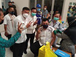 700 Pedagang Pasar di Sumedang, Disuntik Vaksin Covid-19