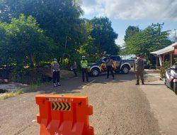 Polsek Darmaraja Tutup Semua Akses Jalan Menuju Objek Wisata Selama PPKM Darurat