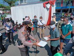 Ribuan Paket Beras dan Program Gerobak Berkah Polres Sumedang Disalurkan ke Warga Terdampak PPKM