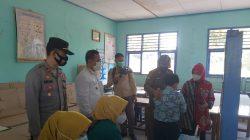 Polsek Cisitu Monitoring Proses Vaksinasi Covid-19 di SMP Negeri 1 Cisitu