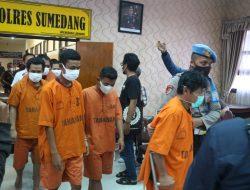 Transaksi di Medsos, Enam Orang Pengedar Sabu di Sumedang Ditangkap Polisi